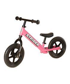 Look what I found on #zulily! Pink Strider No-Pedal Balance Bike by Strider Sports #zulilyfinds