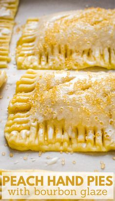 Learn how to make old fashioned homemade hand pies for the perfect summer dessert. The easy dough recipe makes a flaky, tender crust. Fresh peaches, brown sugar and bourbon make a deliciously simple filling for these peach pockets. Bake them in the oven for the best DIY peach hand pies. #peachpie #peachdesserts Easy No Bake Desserts, Summer Desserts, Delicious Desserts, Summer Recipes, Hand Pie Crust Recipe, Dough Recipe, Food Processor Pie Crust, Food Processor Recipes, Tart Recipes
