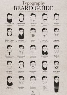 The Typography Beard Guide - Neatorama | fun