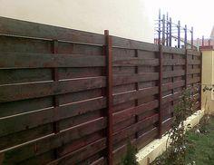 Model de gard din lemn cu model orizontal - Mobina SRL Suceava Outdoor Structures, Wood, Model, Design, Houses, Woodwind Instrument, Timber Wood, Scale Model
