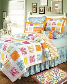 Kauai Full/Queen F/Q Quilt New Out of Original Package Tropical Patchwork Beach Quilt, Beach Bedding, Coastal Bedding, Luxury Bedding, Coastal Quilts, Nautical Bedding, Tropical Quilts, Tropical Bedding, Colorful Bedding