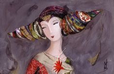 Artodyssey: Catherine Rebeyre Illustrations, Illustration Art, Girl Face, Installation Art, Collage Art, Art Girl, Princess Zelda, Fancy, Fictional Characters