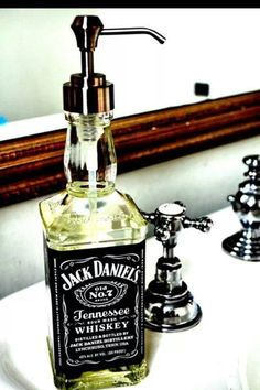 Whiskey soap pump