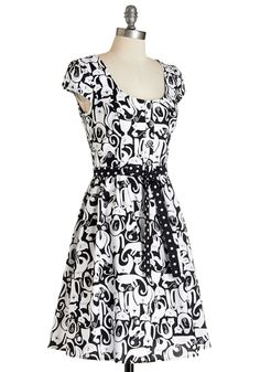 Creative Portrait Dress in Cat Collage. As an abstract artist, you put a creative spin on everything you do. #multi #modcloth