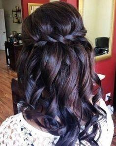 Beautiful hair for bride or bridesmaids