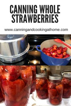Preserve your Strawberries to make magical desserts later on. Fruit And Vegetable Storage, Beef Barley, Easy Pasta Salad, Cook At Home, Canning Recipes, Preserves, Strawberries, Sweet Treats, Frozen