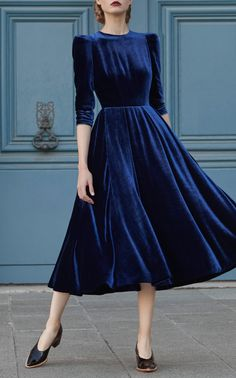 Juliette Velvet Midi Dress by ULYANA SERGEENKO DEMI COUTURE for Preorder on Moda Operandi