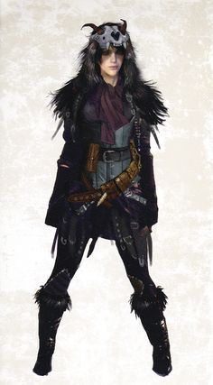 """Morrigan concept art from official """"The Art of Dragon Age: Inquisition"""" - I iwsh they had gone with this instead of going back to her DAO outfit. That seemed a bit lazy."""