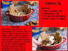 Easy peasy S'mores dip!  Your chocolate craving is only moments away :) #Recipe #Chocolate #desserts