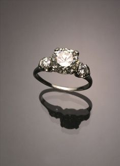 Tested 18-Karat White-Gold Solitaire 3.11 Carat Diamond Ring Jewelry, Coins & Watches - Sale 1304 - Lot 180 - ADAM A. WESCHLER & SON, INC : AUCTIONEERS AND APPRAISERS - SINCE 1890