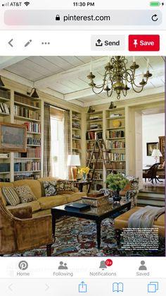 Literatur, Wohnzimmer Inspiration, Versteckte Räume, Englische Landhäuser,  Bibliotheksraum, Ferienhausmöbel, Hausbibliotheken