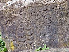 petroglyph at WA's Columbia Hills State Park.
