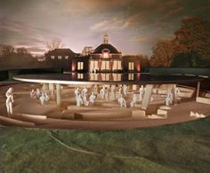 Dusk view. Serpentine Gallery Pavilion 2012 designed by Herzog & de Meuron and Ai Weiwei. Londres.