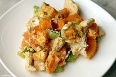 Casserole with chicken and sweet potato 4 No Cook Meals, Kids Meals, Healthy Diners, Curry, Good Food, Yummy Food, Oven Dishes, Cooking Recipes, Healthy Recipes