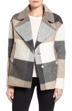 Laundry by Shelli Segal Plaid Swing Coat available at #Nordstrom