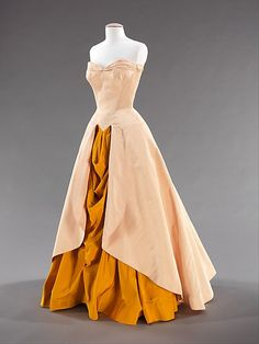 Ball gown Charles James  Manufacturer: Textile by Catoir Silk Company  Date: 1948 Culture: American Medium: silk Accession Number: 2009.300.2787