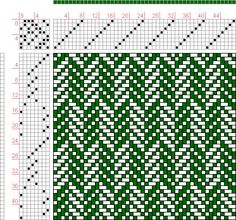 draft image: Page Figure Donat, Franz Large Book of Textile Patterns… Loom Knitting Patterns, Weaving Patterns, Textile Patterns, Cross Stitch Patterns, Knitting Tutorials, Free Knitting, Weaving Designs, Weaving Projects, Inkle Weaving