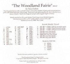 Woodland Fairy - 6/7 Solo Patrones Punto Cruz (pág. 378) | Aprender manualidades es facilisimo.com