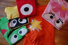 easy DIY yo gabba gabba shirts!!