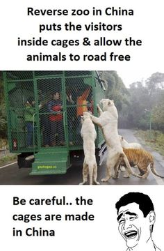 Funny Picture About Humans vs Zoo Animals