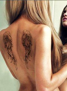 beautiful angel wings tattoo