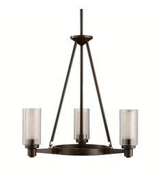 Kichler Lighting Circolo 3 Light Chandelier in Olde Bronze 2343OZ #kichler #lightingnewyork #undercabinetlighting #outdoorlighting #lighting