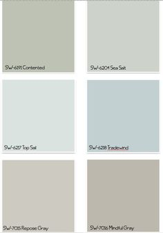 THESE PAINT COLORS. Light blue for bedroom, darker blue or light green for bathroom, grays for kitchen and living room- Sherwin Williams Paint Colors Interior Paint Colors, Paint Colors For Home, Paint Colours, Interior Painting, Interior Design, Popular Paint Colors, Blue Colors, Gray Interior, Contemporary Interior