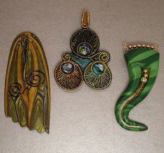 Polymer Clay & Colored Wire Pendants | Flickr - Photo Sharing!