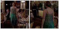 Lady Edith in season four, episode one of Downton Abbey