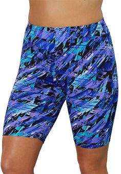 c364ba39a80 Aquabelle Womens Plus Size Chlorine Resistant Arctic Long Bike Short 26  Multi     Check out this great product.