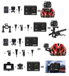 WiMiUS 4K Action Camera WiFi Waterproof 16MP 1080p 60fps Ultra HD 2.0'' Camcorder Sports Video Camera Bike Helmet Cam with 2 Batteries and Accessories (Q1): Amazon.co.uk: Sports & Outdoors