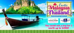 Friendly Planet Travel Win Exotic Malaysia and Thailand Sweepstakes. Visit GiveawayHop.com for more #sweepstakes and #giveaways
