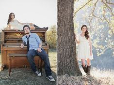 cute engagement pictures...love her outfits!