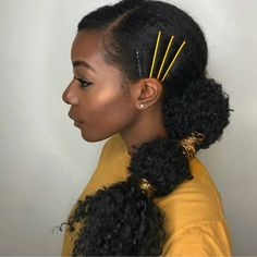 10 Gorgeous Natural Hair Ponytail Styles to try! - The Blessed Queens natural hair ponytail styles are very simple and easy to achieve! Learn how to get a sleek ponytail with natural hair and use it as a protective style! Natural Hair Ponytail, Cute Ponytail Hairstyles, Hair Ponytail Styles, Date Hairstyles, Natural Hair Cuts, Wedding Guest Hairstyles, Sleek Ponytail, Permed Hairstyles, Curly Hair Styles