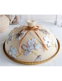 Çiçekli Pasta Fanusu - Nesli Design