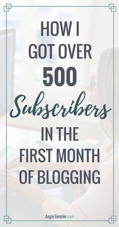 Learn the tips + tools that generated 5,344 pageviews and 543 email subscribers my first month blogging. via @angiegensler