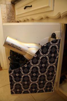 Magazine Holder For Hair Dryer Storage   Attach It To The Door To Get It  Even