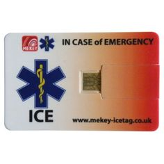 ICE ID Card, In Case of Emergency ID cards. USB technology help you in the event of a crisis or medical emergency. They provide medical and emergency information in an easy to access format, and potentially saving you or someone you love. Card Wallet, Purse Wallet, Medical Information, In Case Of Emergency, Card Sizes, Wallets, Cards, Ice, Pockets