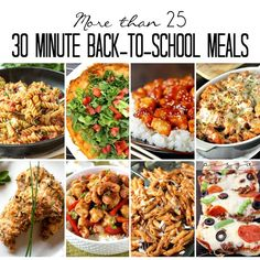 30 Minute Back-to-School Meals - Over 25 mouthwatering recipes by some of the top food bloggers around that you can cook up in less than 30 minutes!  on kleinworthco.com