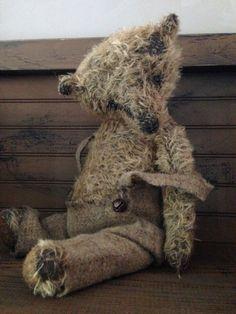 WILLHELM OOAK Mohair Artist Bear by VillagePrimitivesbyM on Etsy, $255.00
