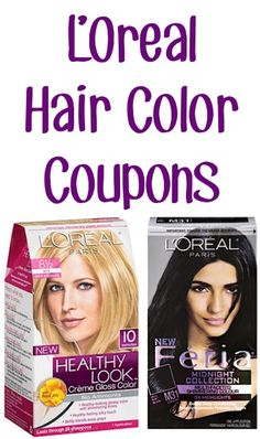 L'Oreal Hair Color Coupons: $2.00 off 1 Healthy Look and $2.00 off 1 Feria! {+ makeup coupons}