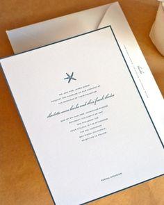 Navy-and-White Invitation
