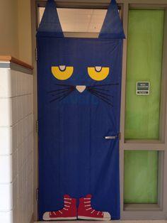 My Pete the Cat door for my music classroom!