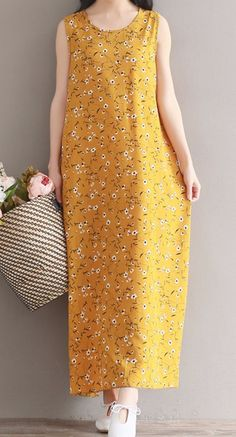 Women loose fitting over plus size retro flower dress long maxi tunic casual #Unbranded #dress #Casual