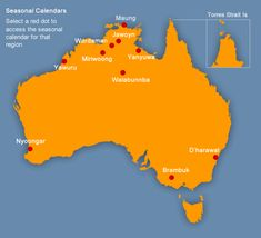 Image map of Indigenous weather locations in Australia