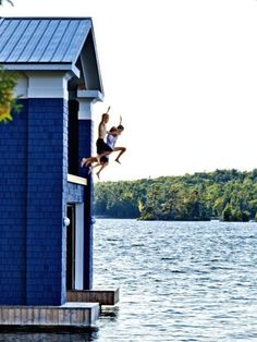 Lake boat house fun