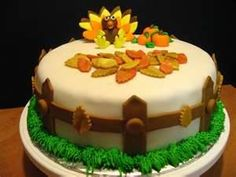 Creative Image of Thanksgiving Birthday Cakes . Thanksgiving Birthday Cakes Thanksgiving Cakes Decoration Ideas Little Birthday Cakes Thanksgiving Cakes, Thanksgiving Turkey, Thanksgiving Birthday, Fall Cakes, Cake Pictures, Evening Meals, Snack, Food Items, Cake Designs