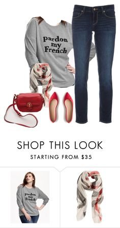 """""""OOTD 021616"""" by mygirlyarmour ❤ liked on Polyvore featuring Old Navy, Paige Denim, Burberry, J.Crew, women's clothing, women, female, woman, misses and juniors"""