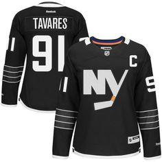 Women's New York Islanders John Tavares Reebok Black Premier Alternate Jersey