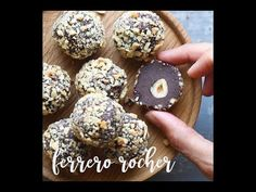 Homemade Ferrero Rocher are based on quality dark chocolate and hazelnut butter. They are easy to make, require 6 ingredients, are vegan and gluten-free.